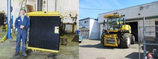 Radiator for farm equipment